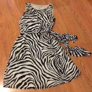 Zebra striped safari dress